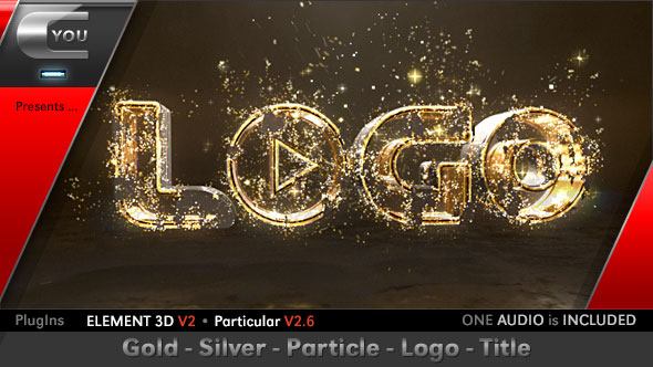 Gold Silver Particle Logo Title
