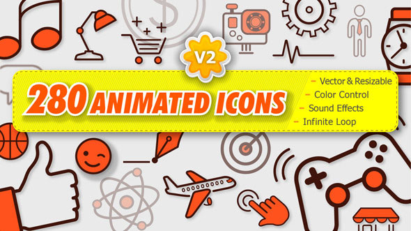280 Animated Icons