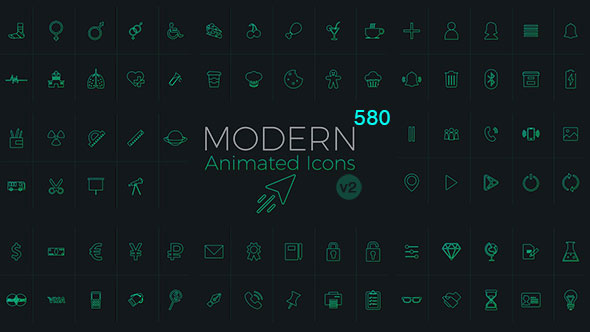 Modern Animated Icons Library