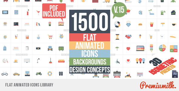 Flat Animated Icons Library