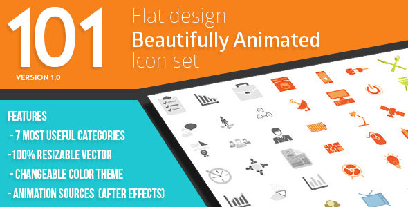 101 Animated Icons for Promotion and Business