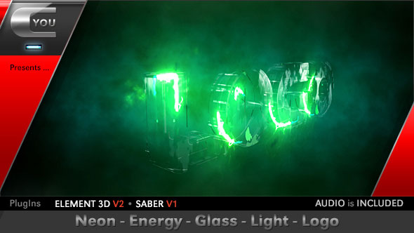 Neon Energy Glass Light Logo