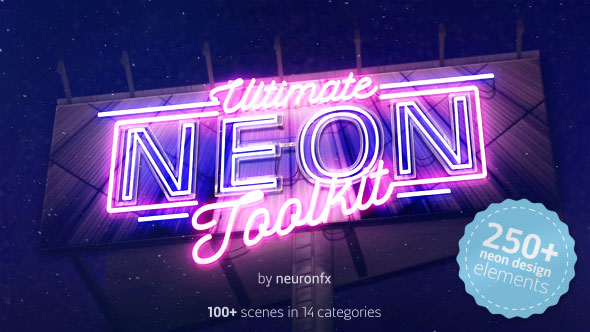 Ultimate Neon Toolkit - Neon Sign Mockup Kit