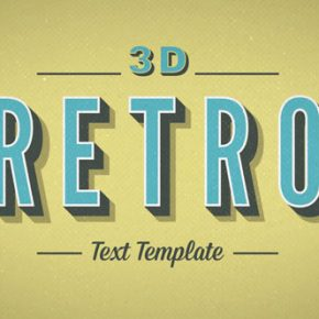 20 Cool 3D Typography After Effects Templates