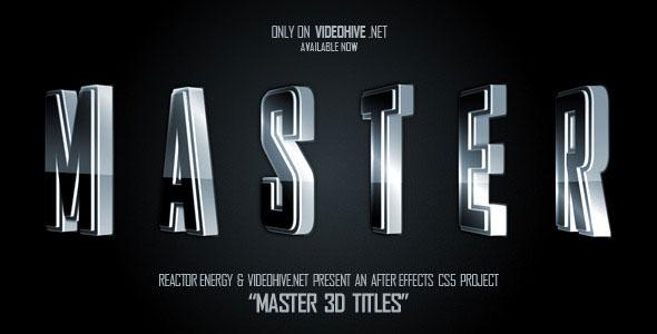 Master 3D Titles