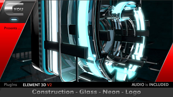 Construction Glass Neon Logo