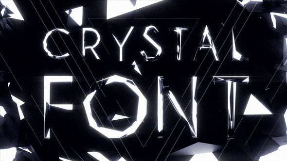 Crystal Font Pack with Shapes and Titles