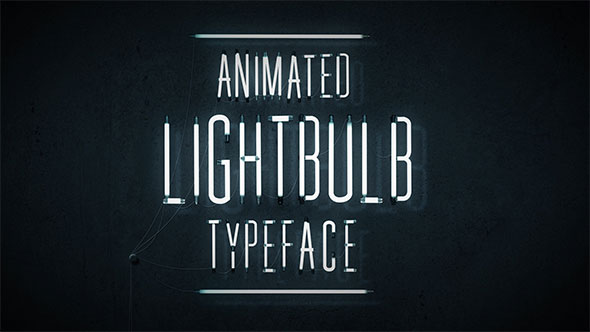 Animated Lightbulb Typeface
