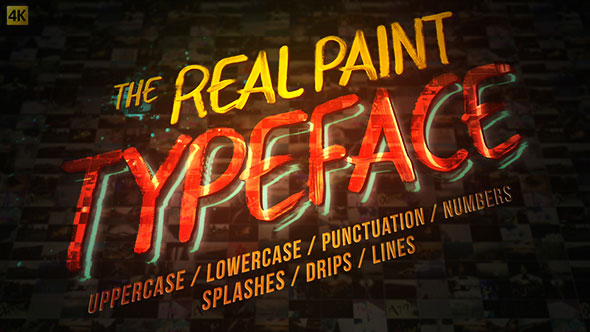 Real Paint Typeface Kit