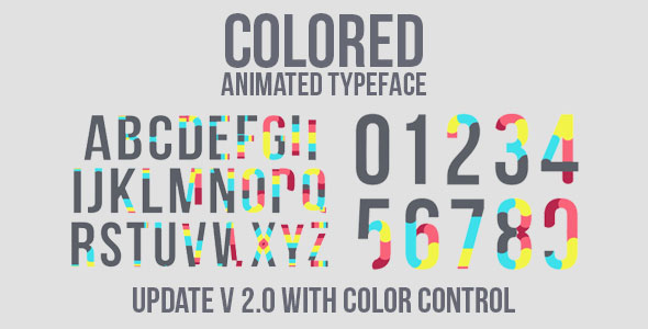 Colored Animated Typeface