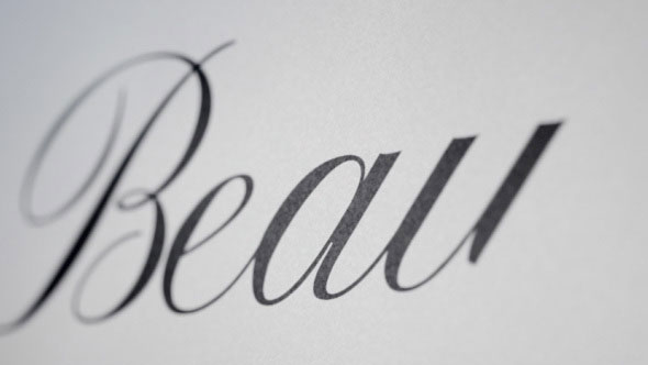 Beauty - Animated Handwriting Font