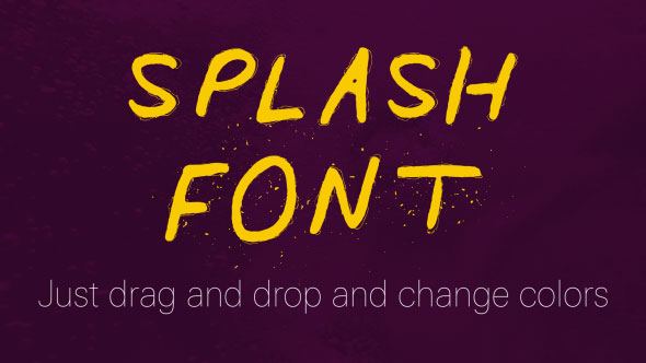 Splash Font - A Liquid Font
