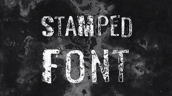 Stamped Font