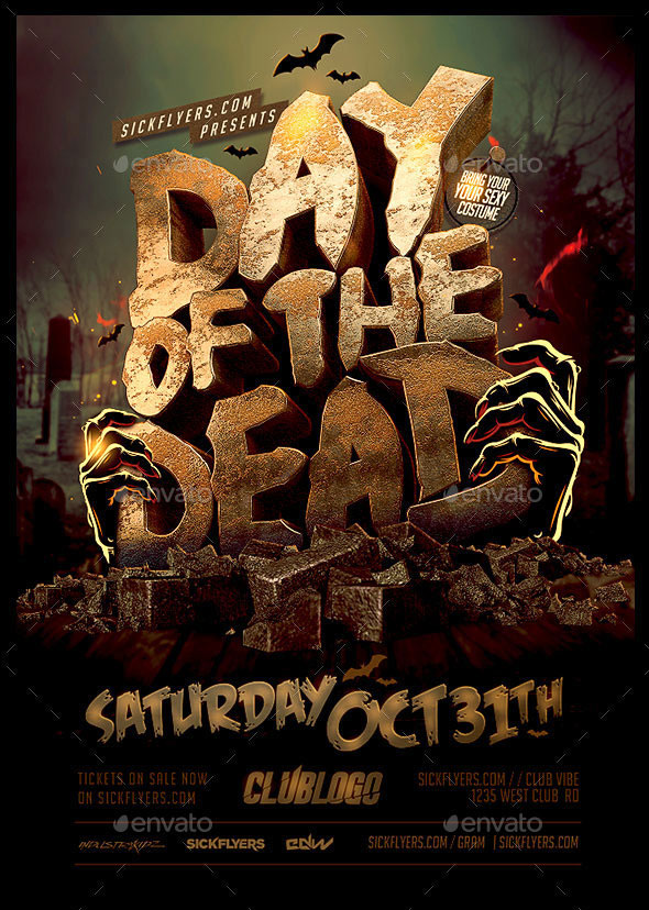 Day Of The Dead Flyer Template