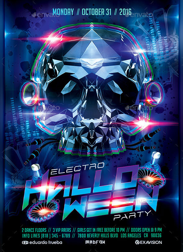 Electro Halloween Party Flyer