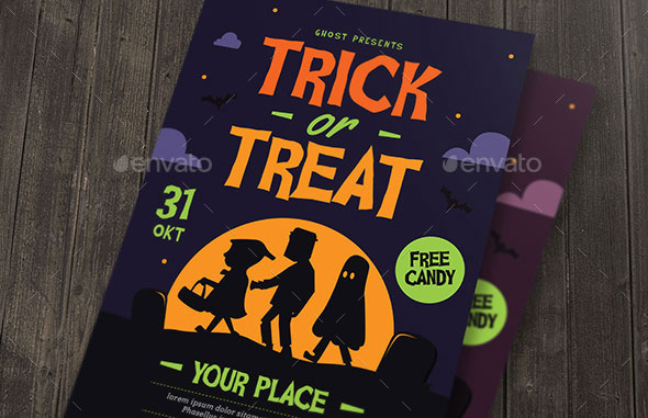 Trick or Treat Halloween kids Flyer