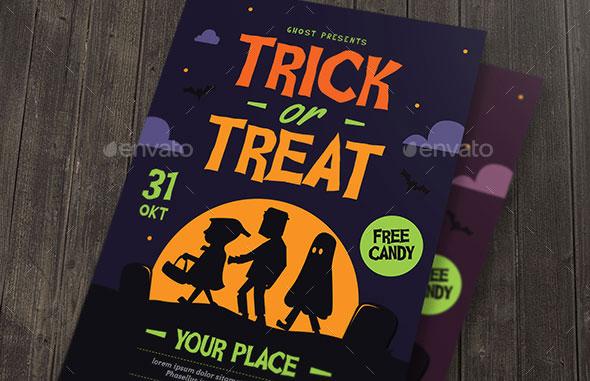 Trick or Treat Halloween kids Flyer