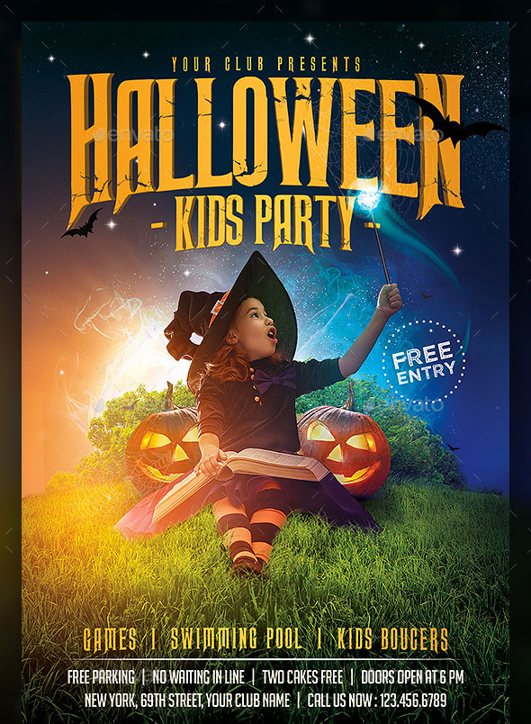 Kids Halloween Magic Flyer