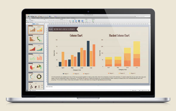 The Data Deck II: Retro Powerpoint Infographics