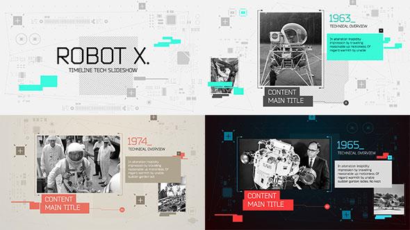 Robot X. Timeline Slideshow