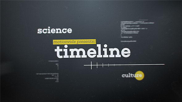 Abstract 3D Timeline