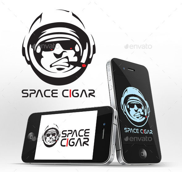 Space Cigar Logo Template