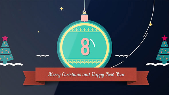 Countdown Christmas Shapes