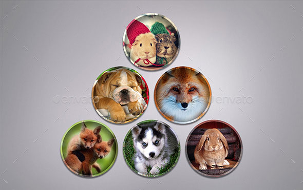 30 Circle Photo Frame Templates_02 Styles