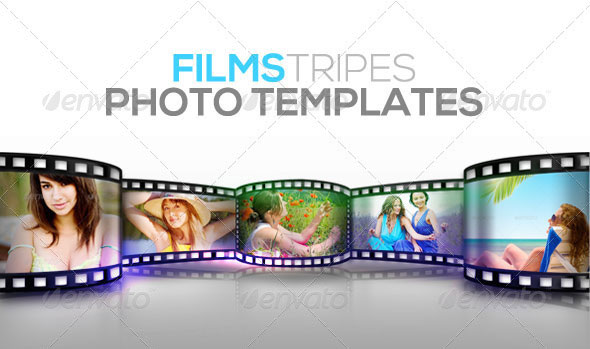 Film Stripes Photo Templates
