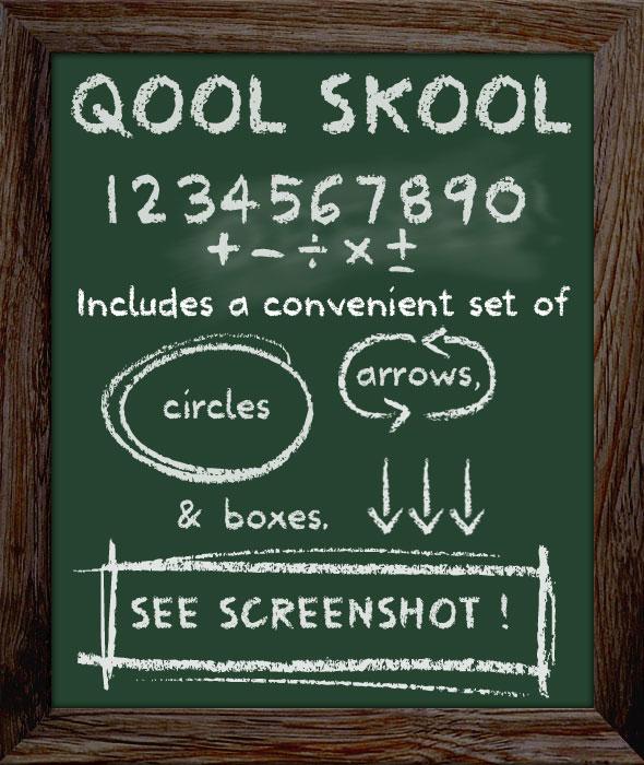 School Type Lettering - Chalkboard Font
