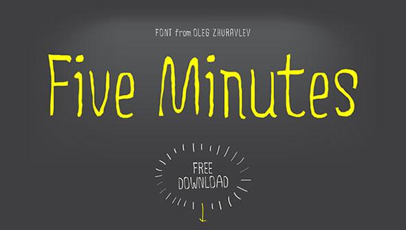 Five Minutes / Free Font