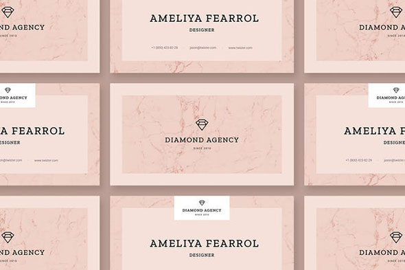 Diamond Personal Business Card