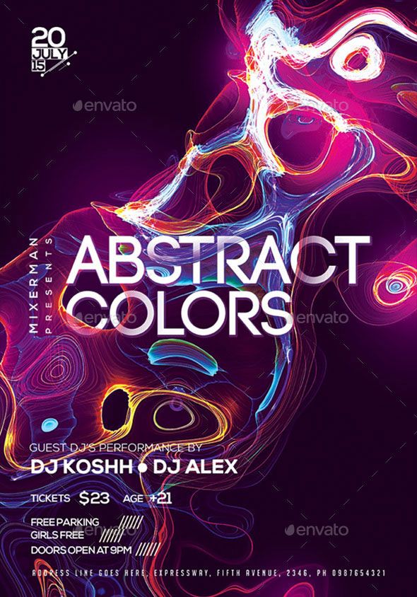 Abstract Colors Poster / Flyer