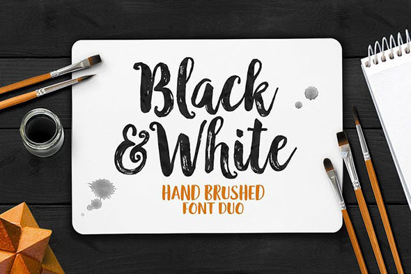 Black And White Typeface