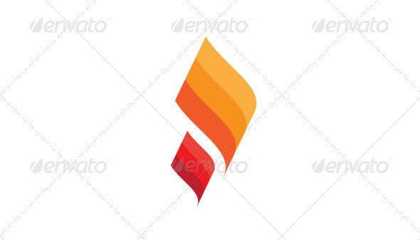 Fire Paper Logo Template