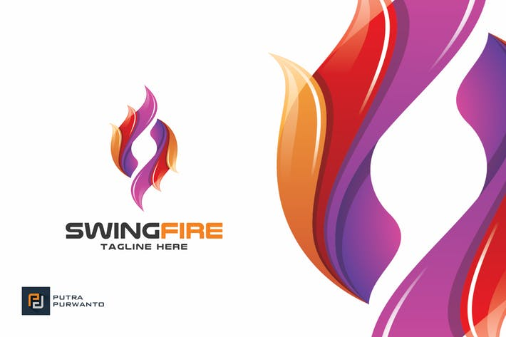 Swing Fire - Logo Template