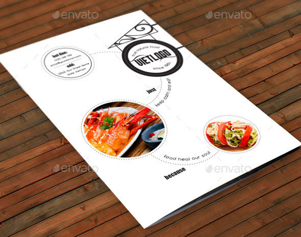 Restaurant Menu A4 Vol09