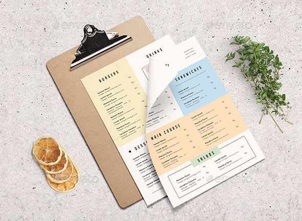 Simple Restaurant Menu
