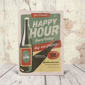 20 Creative Retro & Vintage PSD Flyer Design Templates