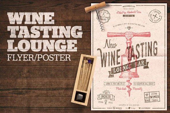 Wine Tasting Lounge Flyer / Poster
