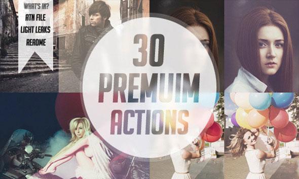 30 Premium Photoshop Actions