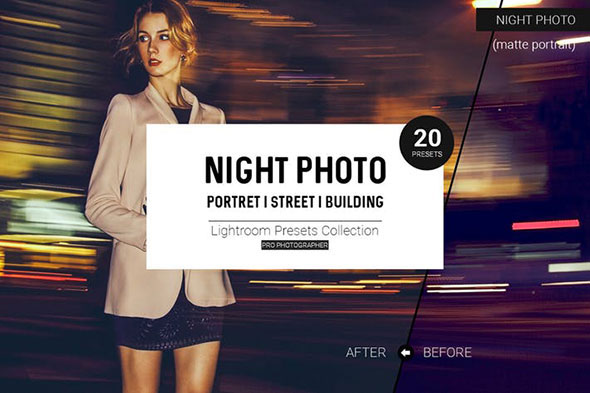 Night Photo Lightroom Presets