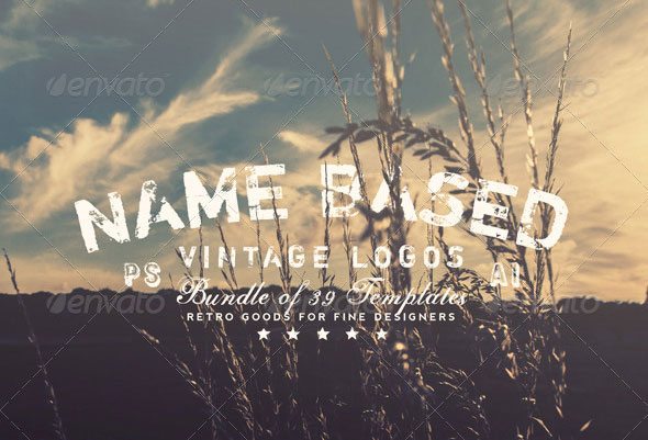 39 Name Based Vintage Logos Bundle Volume 1