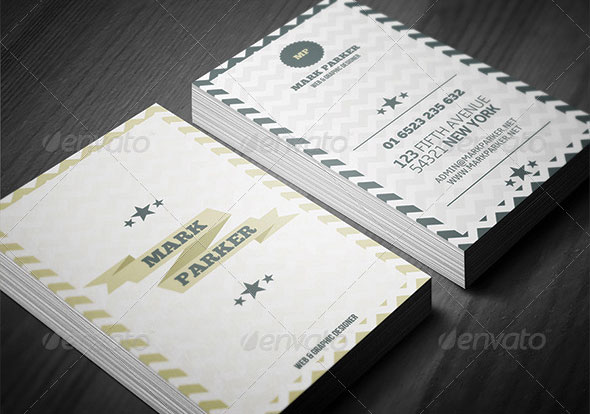Retro Star Business Card