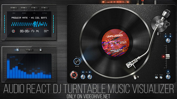 Audio React DJ Turntable Music Visualizer