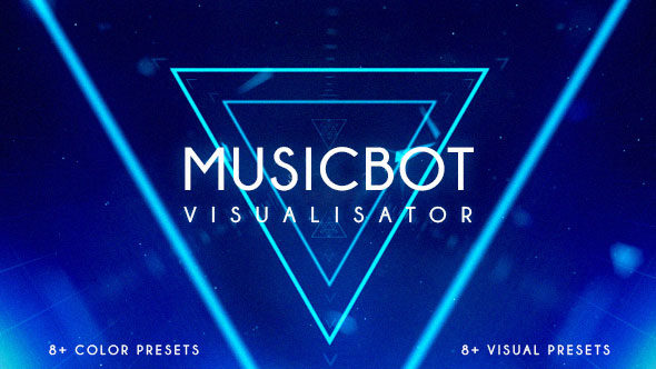 Musicbot Visualisator and Audio React Background Creator