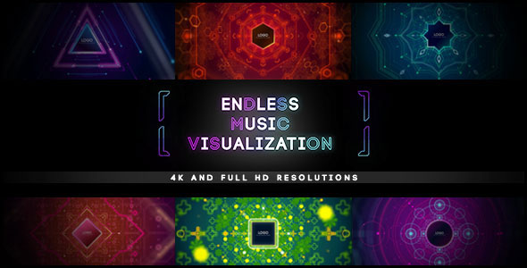 Endless Music Visualization 4K Project