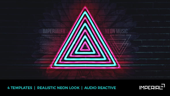 Neon Music Visualizer Audio React