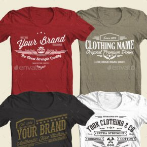 35 Retro & Vintage T-Shirt Design Templates 2018