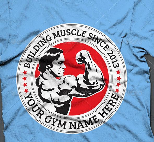 Bodybuilder T-shirt Design